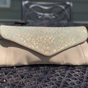 SEE by CHLOE blush pink leopard large clutch